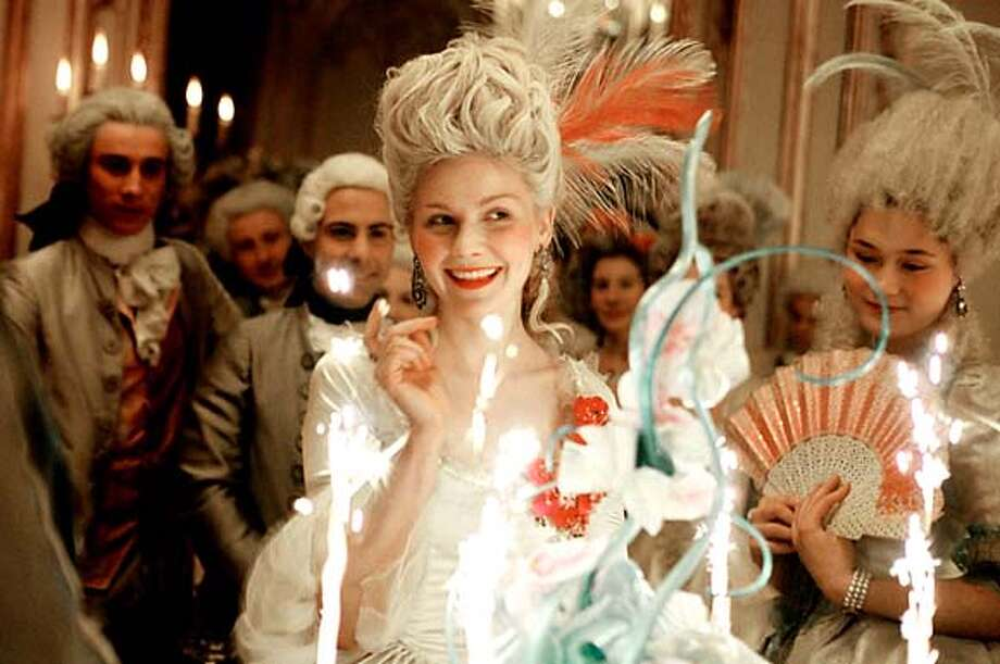no caption given  Ran on: 10-15-2006  Kirsten Dunst plays the controversial French monarch in Sofia Coppola's &quo;Marie Antoinette.&quo; Coppola had unprecedented access to Versailles while making her film. Photo: -