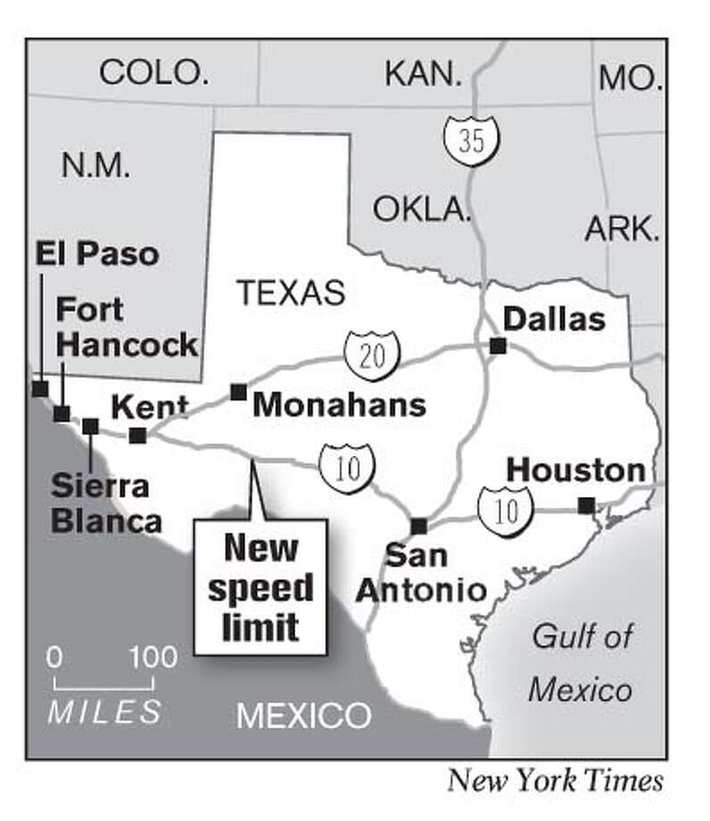 New Speed Limit. New York Times Graphic