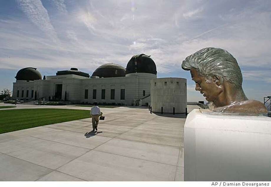 A statue of actor James Dean is shown at the newly renovated Griffith Observatory, located on Mount Hollywood in Los Angeles, Tuesday, Oct. 3, 2006. The observatory will reopen its doors to the public Nov. 3, after a comprehensive $93 million renovation and expansion project. (AP Photo/Damian Dovarganes) Photo: DAMIAN DOVARGANES