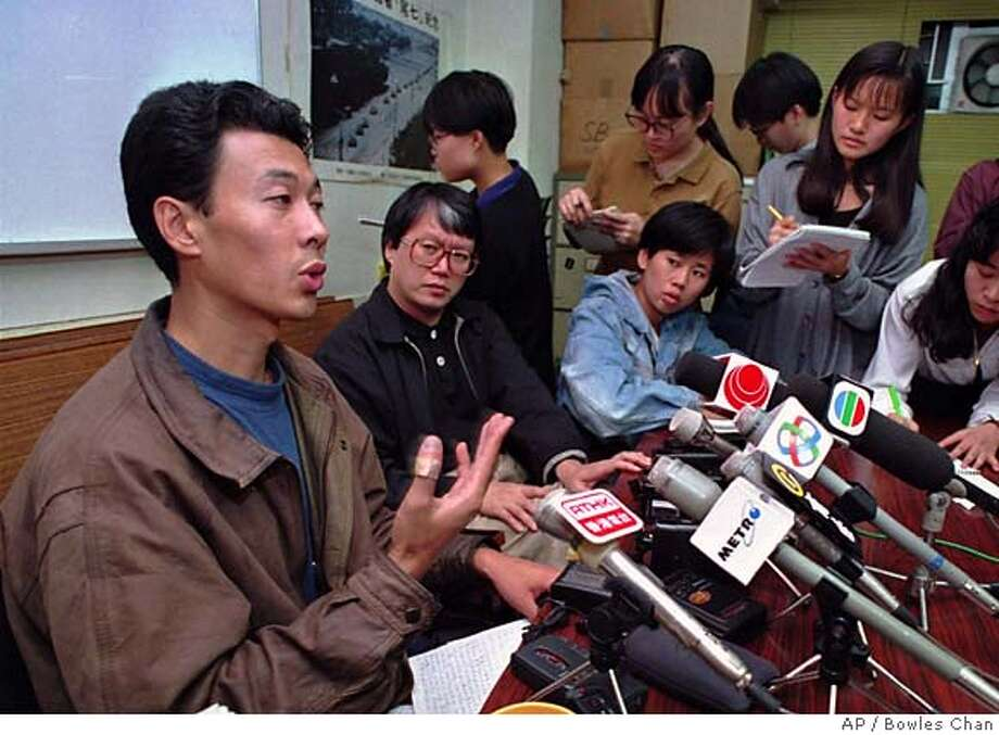Han Dongfang, exiled to Hong Kong in 1993, says unionization and the acquisition of better working conditions in China are only a matter of time. Associated Press photo, 1993, by Bowles Chan