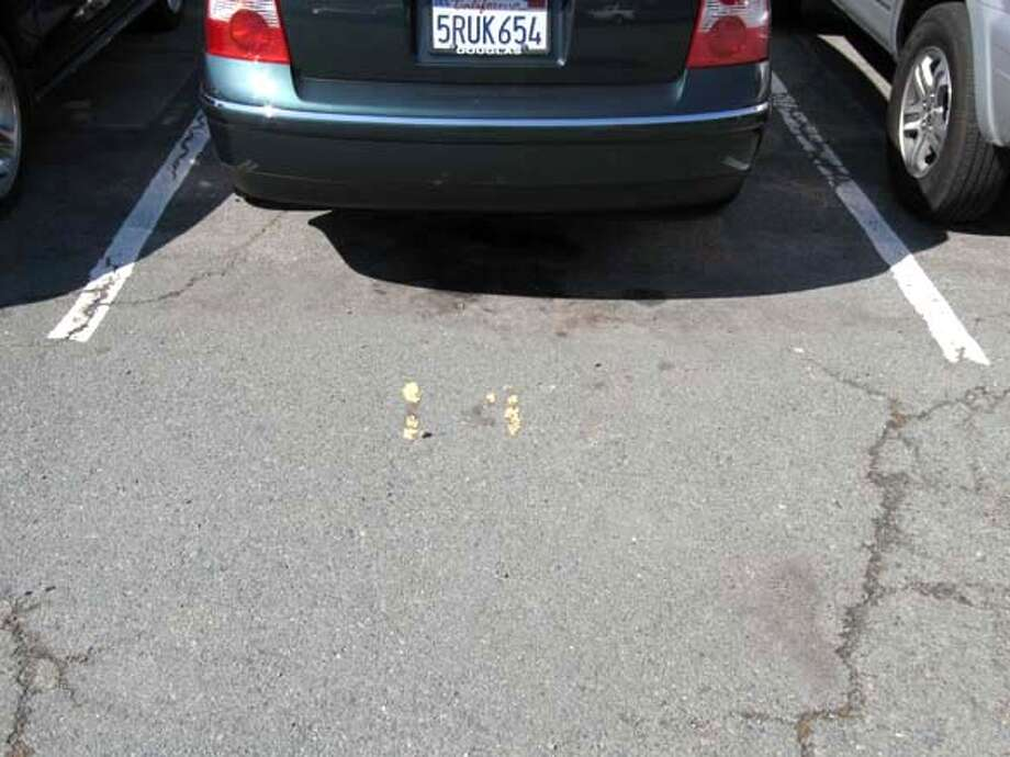 {object name}  Approximately 30 spaces at the Orinda BART parking lot are faded and illegible causing drivers to not know which spaces to pay for, tipster says. Mandatory credit for photographers and San Francsico Chronicle/ -mags out Photo: Rob Selna