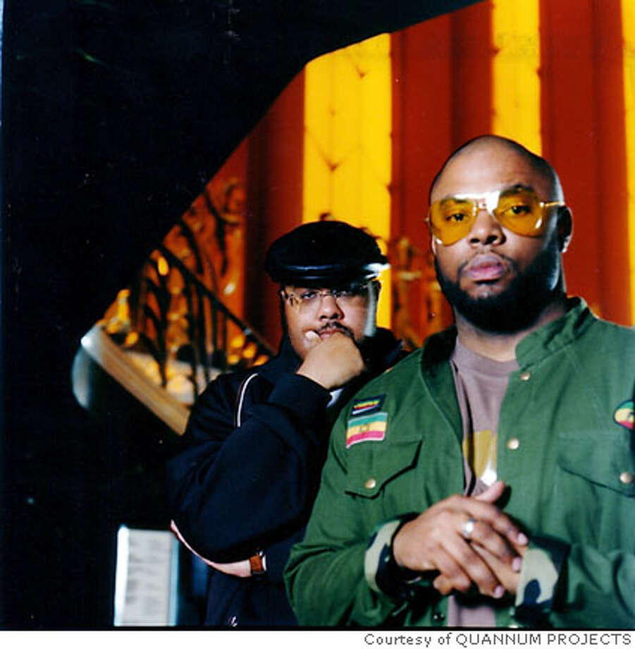 Blackalicious: Xavier Mosley aka Chief Xcel (front) and Tim Parker aka Gift of Gab (back) Photo: Courtesy Of QUANNUM PROJECTS