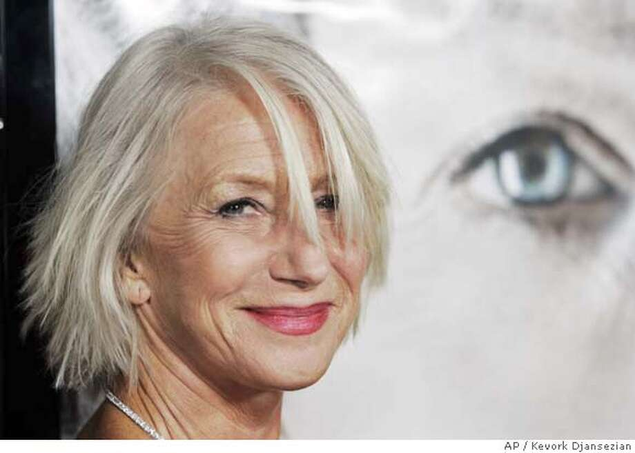 "Helen Mirren the star of the new film ""The Queen"" arrives to the premiere of the film in Beverly Hills, Calif., Tuesday, Oct. 3, 2006. (AP Photo/Kevork Djansezian) Photo: KEVORK DJANSEZIAN"