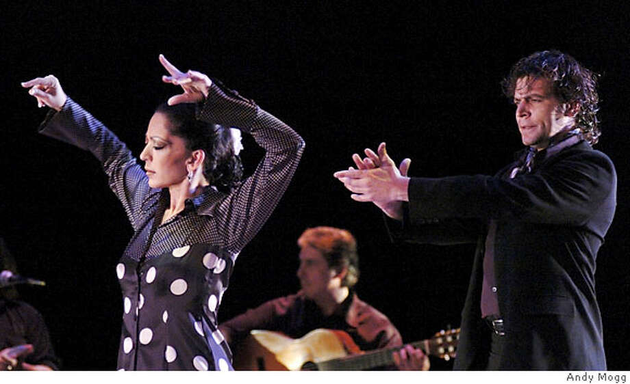 "For Yaelisa2006: Yaelisa and Juan Ogalla perform an energetic duet to live Flamenco and gypsy guitar under the musical direction Jason McGuire ""El Rubio."" Photo by Andy Mogg Photo: Andy Mogg"