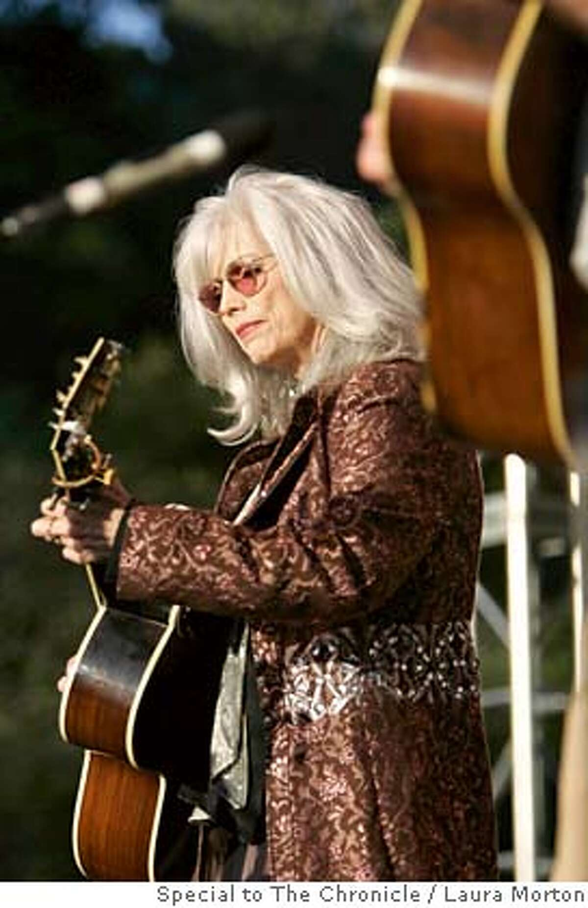 Emmylou Harris performs at the Hardly Strictly Bluegrass Festival in Golden Gate Park on Sunday.