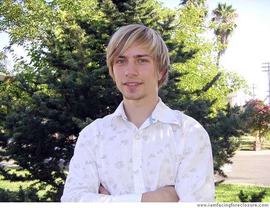 Casey Serin, the 24-year-old real estate investor who put together a blog that describes his mistakes, still has hopes to emerge with success. Photo courtesy of www.iamfacingforeclosure.com