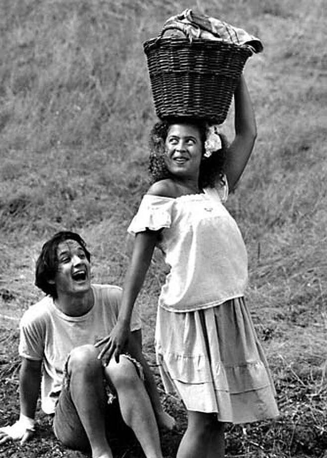 """Sean San Jose and Greta Sanchez, left, in Nilo Cruz's """"Night Train to Bolina."""" Photo courtesy of Magic Theatre"""