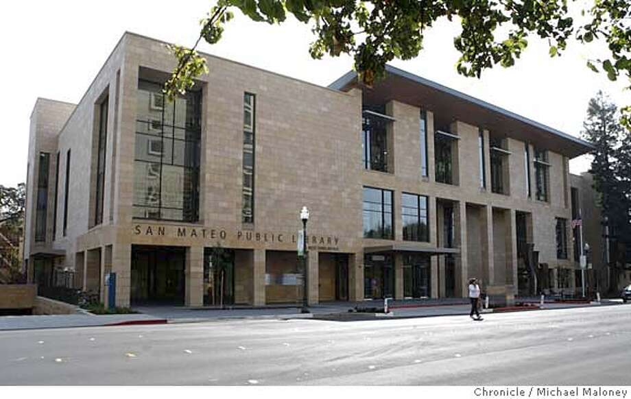 The newly opened San Mateo Public Library was funded by a 1999 local voter approved bond of $35 million, a $20 million state grant and $10 million in local fundraising.  Photo by Michael Maloney / San Francisco Chronicle on 9/28/06 in San Mateo,CA MANDATORY CREDIT FOR PHOTOG AND SF CHRONICLE/ -MAGS OUT Photo: Michael Maloney