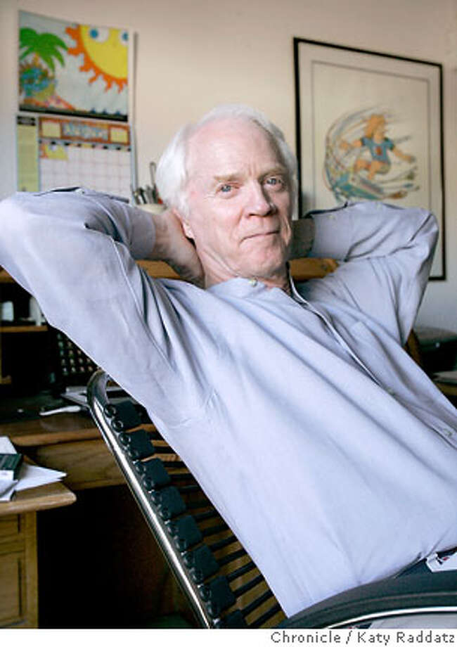 SHOWN: Rusty Schweickart, the Chairman of the B612 Foundation. The B612 Foundation is trying to build an asteroid defense system. We photograph Rusty Schweickart in his home office in Tiburon, CA. These photos were shot in Tiburon, CA. on Wednesday, Aug. 30, 2006. (Katy Raddatz/The S.F.Chronicle)  **Rusty Schweickart Photo: Katy Raddatz