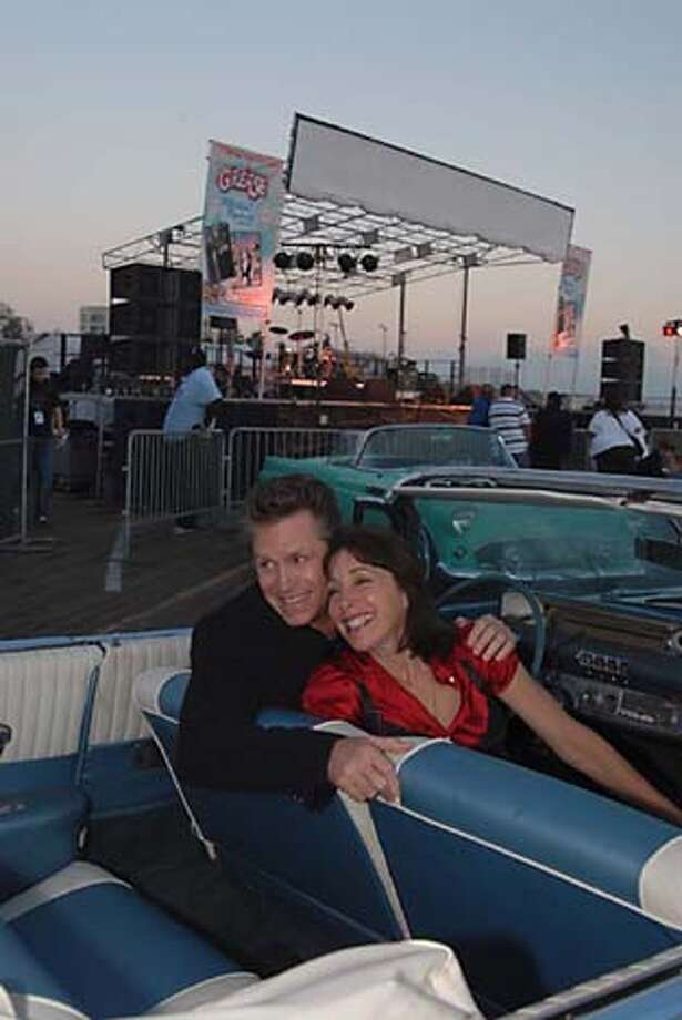"Recent photo of Didi Conn (""Frenchy"") with another member of the ""Grease"" movie cast, Jeff Conaway, who played ""Kenickie."" Credit: Paramount Home Entertainment. Photo: Paramount Home Entertainment"