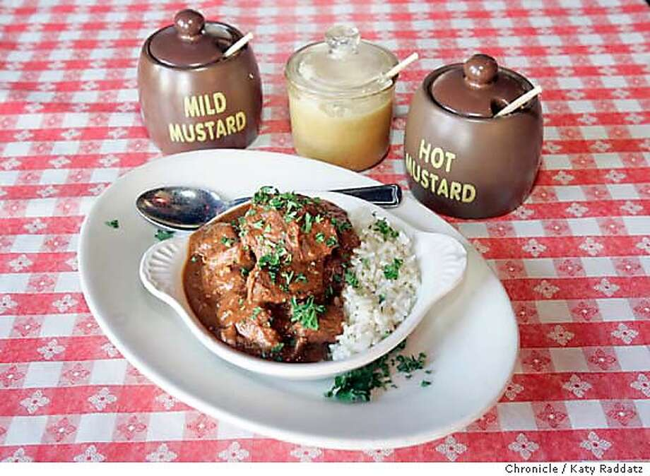 SPECIAL08_006_RAD.jpg  Buffalo Stew at Tommy's Joynt, for a column by Bonnie Wach about buffalo meat. These pictures were made on Wednesday, Sept. 27, 2006, in San Francisco, CA.  (Katy Raddatz/The S.F.Chronicle)  **Tommy's Joynt Mandatory credit for photographer and the San Francisco Chronicle/ -Mags out Photo: Katy Raddatz