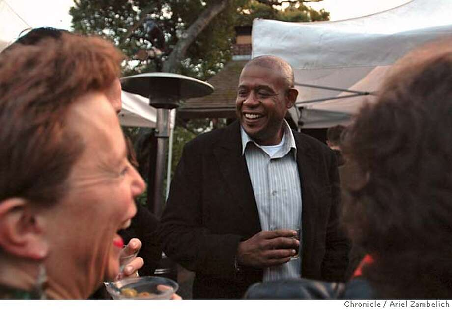 MILL07_005_AZ.JPG  Actor Forest Whitaker shares a laugh with veteran film fest attendee Joan Goldberg at the VIP Reception for the Mill Valley Film Festival on Thursday night.  Photo by ARIEL ZAMBELICH/Special to The San Francisco Chronicle  Photo taken on 10/5/06, in MILL VALLEY, CALIFORNIA, USA  **All names cq (source) Photo: ARIEL ZAMBELICH