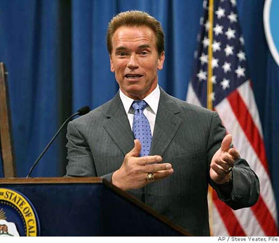 Gov. Arnold Schwarzenegger. Associated Press file photo by Steve Yeater