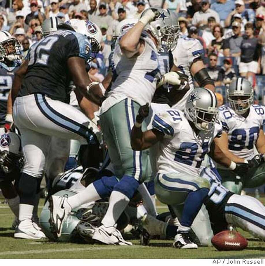 Albert Haynesworth's assault on Cowboys' defensive tackle Andre Gurode provoked a five-game suspension from the NFL. Associated Press photo by John Russell