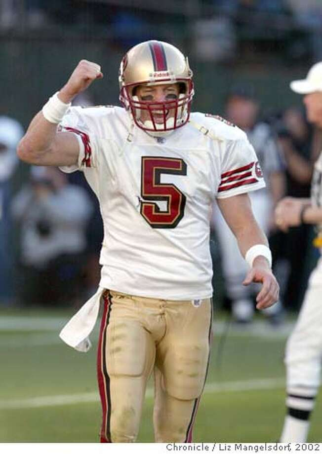 Jeff Garcia was taunted unmercifully by the Black Hole before leading a game-winning drive in 2002. Chronicle file photo by Liz Mangelsdorf