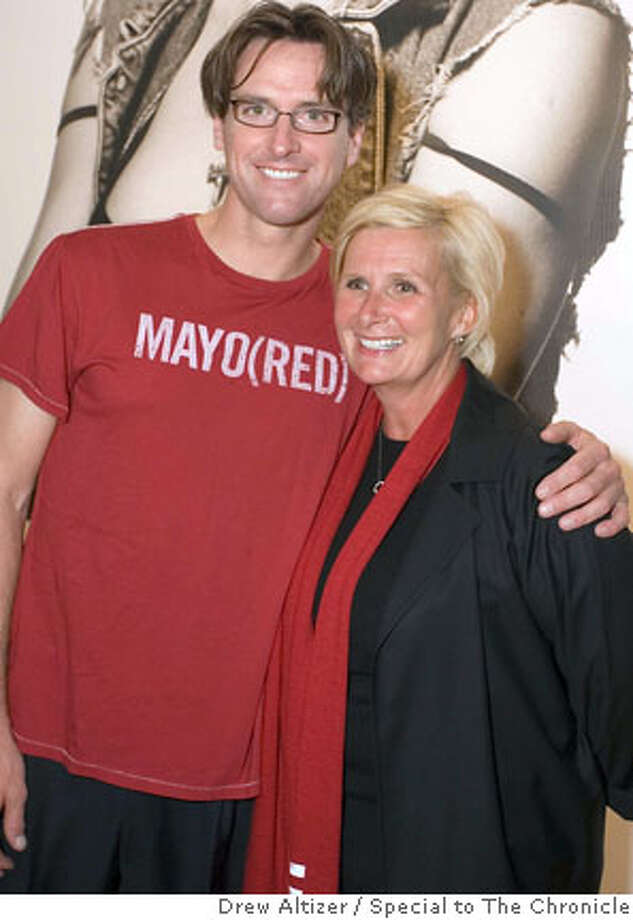 """Mayor Gavin Newsom sports his new 'do at the Gaps' """"Individuals"""" photo exhibition and launch of Product(Red). Photo by Drew Altizer, special to The Chronicle"""