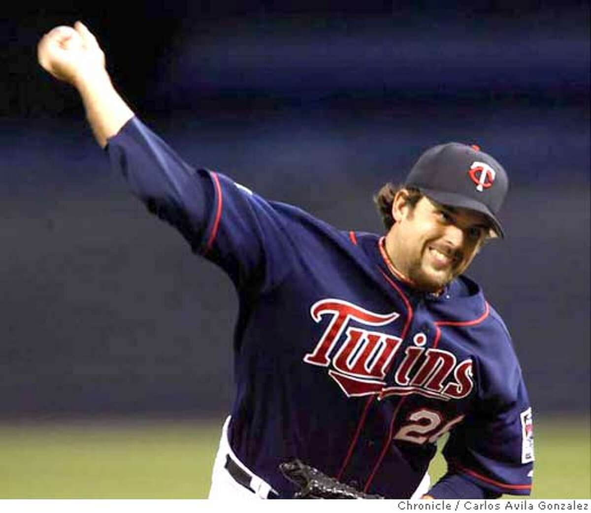 Boof Bonser started the game for the Twins. The Oakland Athletics played the Minnesota Twins in Game 2 of the American League Division Series at the Metrodome in Minneapolis, Mn., on Wednesday October 4, 2006, winning the game, 5-2. Photo by Carlos Avila Gonzalez/The San Francisco Chronicle Photo taken on 10/4/06, in Minneapolis, Mn, USA **All names cq (source)