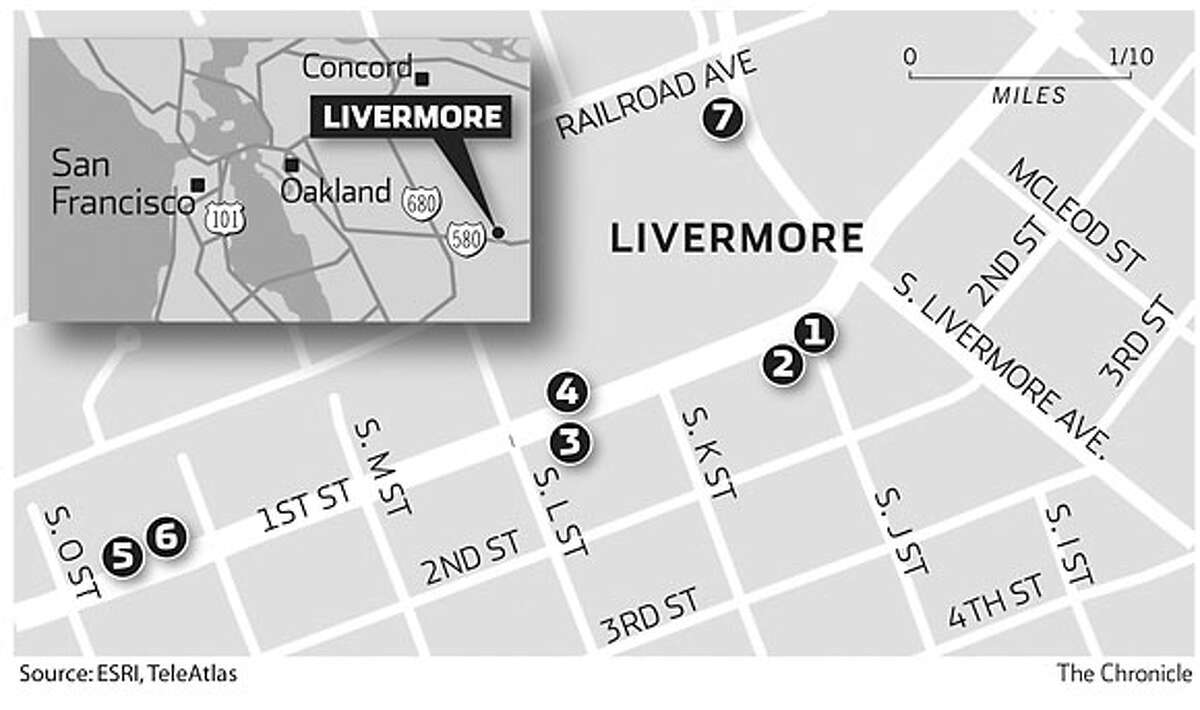 First Street, Livermore. Chronicle Graphic