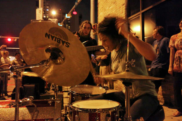 The band Odist, from Atlanta, Ga., performs during South by Southwest on March 16, 2012, in Austin. Photo: EDWARD A. ORNELAS, Edward A. Ornelas/Express-News / © SAN ANTONIO EXPRESS-NEWS (NFS)