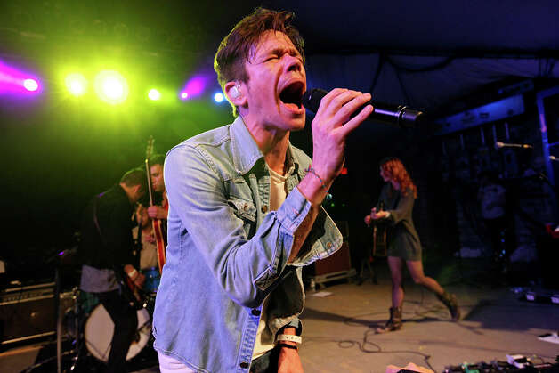 Fun's Nate Ruess, from New York, NY, performs with the band at Stubb's during South by Southwest on March 16, 2012, in Austin. Photo: EDWARD A. ORNELAS, Edward A. Ornelas/Express-News / © SAN ANTONIO EXPRESS-NEWS (NFS)