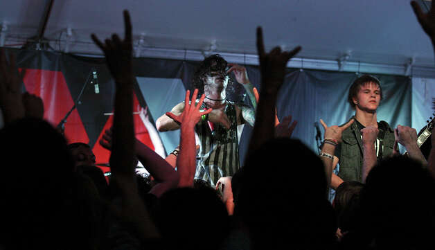 Blessthefall, from Phoenix, Ariz., performs at the Annex during South by Southwest on March 16, 2012, in Austin. Photo: EDWARD A. ORNELAS, Edward A. Ornelas/Express-News / © SAN ANTONIO EXPRESS-NEWS (NFS)