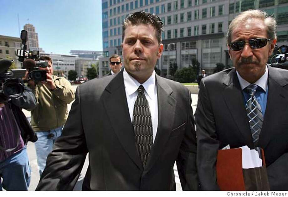 Balco_05_JMM.JPG  Greg Anderson walks with attorney Mark Geragos to the federal building in San Francisco. Anderson, who is Barry Bonds' trainer, was held in contempt of court and jailed for refusing to testify before a grand jury. Event on 8/28/06 in San Francisco. JAKUB MOSUR / The Chronicle  Ran on: 08-29-2006  Mark Geragos (right) plans to file an appeal to the Ninth Circuit today for Greg Anderson. MANDATORY CREDIT FOR PHOTOG AND SF CHRONICLE/ -MAGS OUT Photo: JAKUB MOSUR