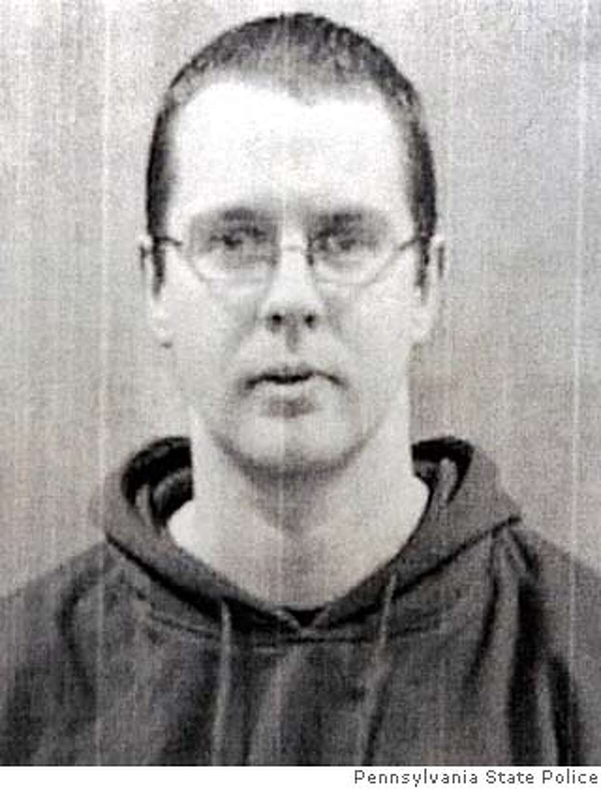 Charles Carl Roberts, a 32-year-old diary truck driver, whom police identified as the gunman who killed three schoolgirls execution style and then shot himself dead in a schoolhouse in Nickel Mines, Pennsylvania, is seen in this police handout released October 2, 2006. The incident was the third U.S. school shooting in less than a week. EDITORIAL USE ONLY REUTERS/Pennsylvania State Police Photo/Handout (UNITED STATES) 0