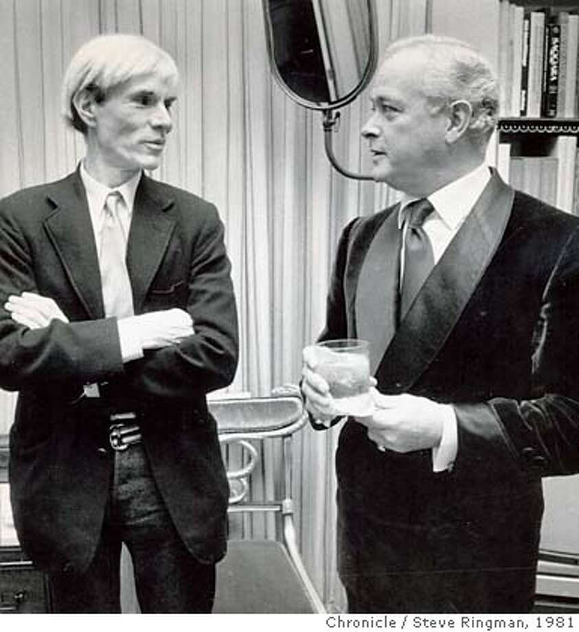 HAIL30_PH2.jpg Andy Hail, right, with Andy Warhol in 1981. Steve Ringman/ San Francisco Chronicle File Photo/ 1981 Photo: Steve Ringman