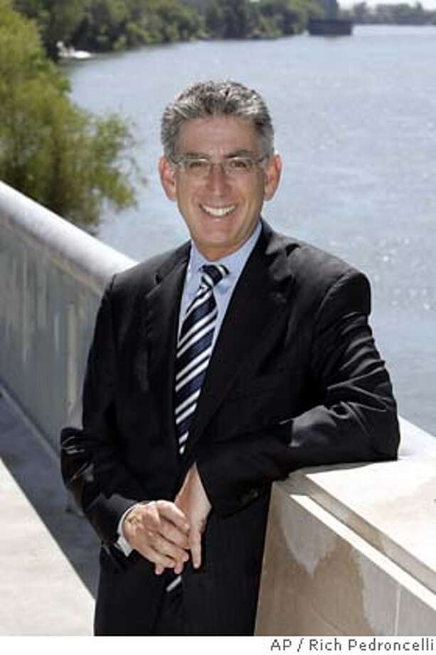 ** FILE ** ADVANCE FOR USE ANYTIME **Democratic gubernatorial candidate, State Treasurer Phil Angelides, poses along the Sacramento River in Sacramento, Calif., in this Monday, Aug. 28, 2006, file photo. Angelides is seeking to unseat incumbent Republican Governor Arnold Schwarzenegger in the November 7 election. (AP Photo/Rich Pedroncelli) ADVANCE FOR USE ANYTIME AUG. 28, 2006 FILE PHOTO Photo: RICH PEDRONCELLI