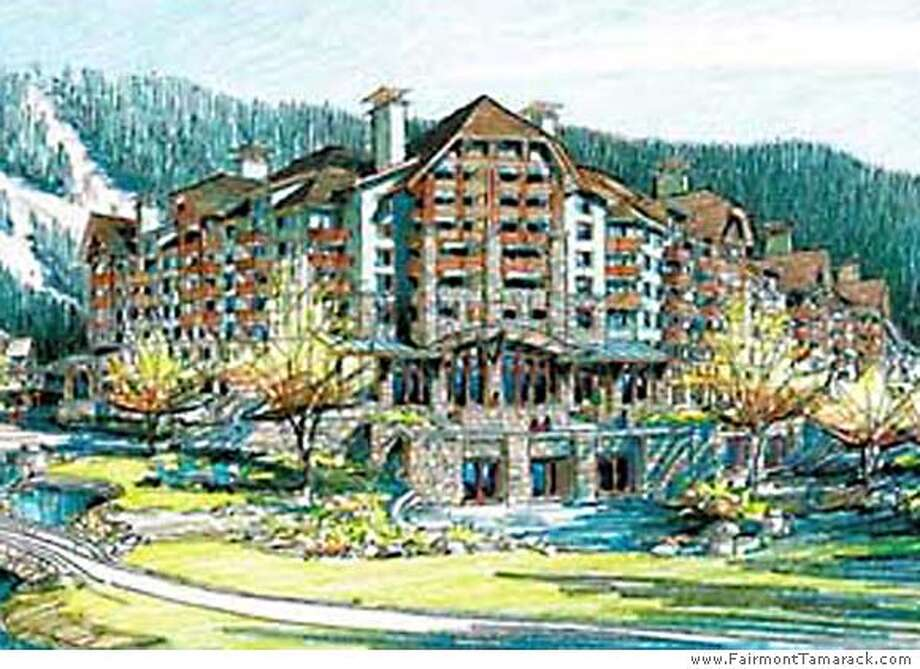 This rendering shows Tamarack Resort, the hotel-condo project that Andre Agassi and Steffi Graf are involved in. Photo courtesy of www.FairmontTamarack.com