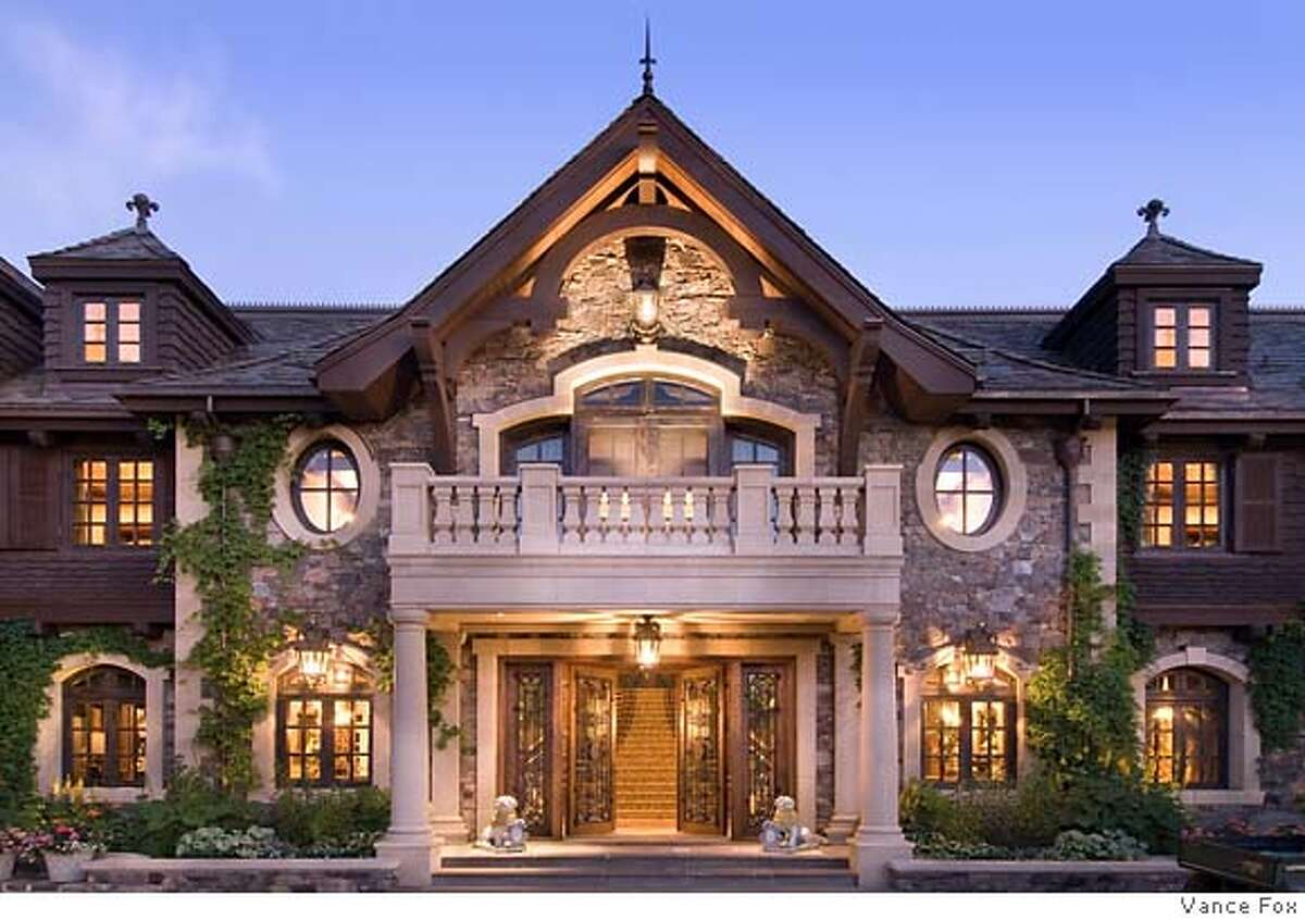 Main entrance to Tranquilty the 210-acre, 9-building compound on the eastern shore of Lake Tahoe owned by Tommy Hilfeger co-founder Joel Horowitz and now on the market for $100 million.