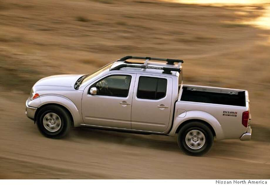 The 2006 Frontier Nismo (shorthand for Nissan Motorsports) is designed for hard work and extreme play. Its fully boxed steel frame makes it the perfect truck for off-road use. Illustrates WHEELS-FRONTIER (category l), by Warren Brown � 2006, The Washington Post. Moved Friday, Sept. 15, 2006. (MUST CREDIT: Nissan North America.)  Ran on: 10-01-2006 Ran on: 10-01-2006 Ran on: 10-01-2006 Ran on: 10-01-2006 Photo: HANDOUT