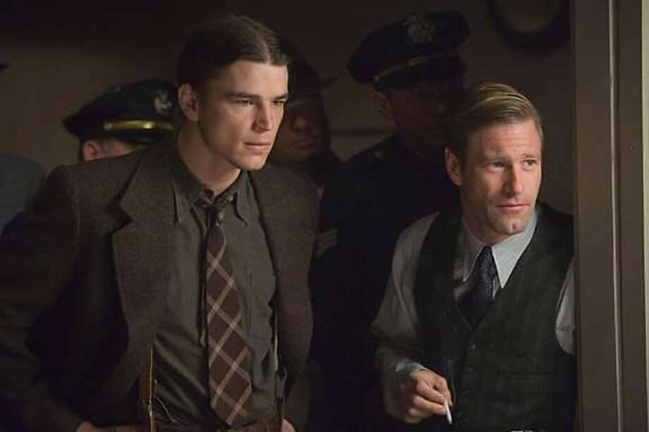 "Aaron Eckhart (right) in ""The Black Dahlia"": He's good. Photo courtesy of Universal Pictures"