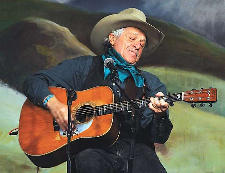 """Ramblin' Jack Elliott never uses a set list onstage: """"I know about 600 songs well enough to sing without any difficulty,"""" he says. """"That's my working repertoire."""" Associated Press photo by Ross Anderson"""