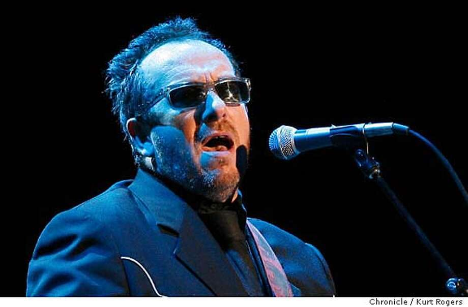 Elvis Costello. Chronicle photo by Kurt Rogers