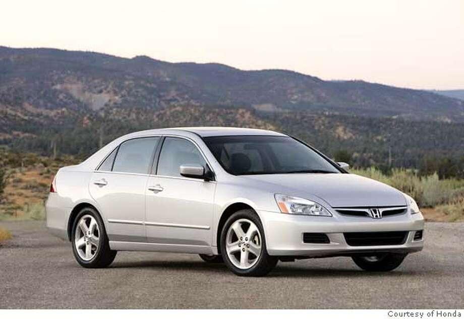 2006 Honda Accord Sedan EX-L (V6 with 6-speed manual transmission). Photo: Honda