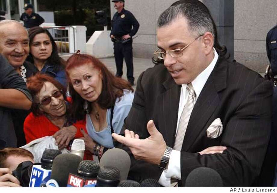 John Gotti Jr. speaks to the media outside Manhattan federal court after his third trial ended in a mistrial, Wednesday, Sept. 27, 2006, in New York. (AP Photo/ Louis Lanzano) Photo: LOUIS LANZANO
