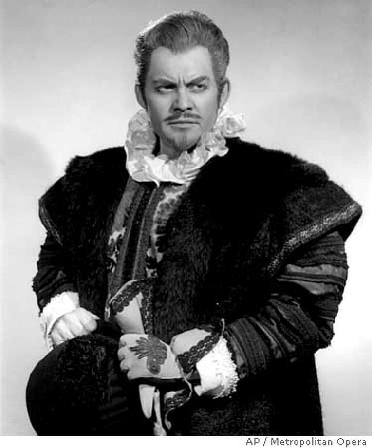 "In this handout photo released by The Metropolitan Opera, American bass-baritone Thomas Stewart poses as Ford in Verdi's ""Falstaff"" on March 9, 1966 in New York. Stewart, known as a commanding singer who took an imaginative approach to his diverse roles, died Sunday, Sept. 24, 2006 after collapsing while playing golf near his home in Rockville, Md. He was 78. (AP Photo/The Metropolitan Opera Archives) ** **"