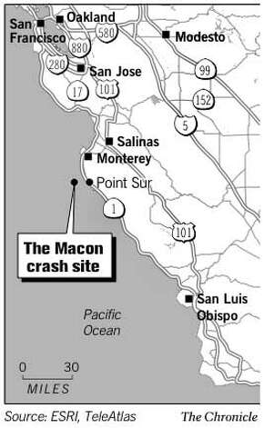 The Macon Crash Site. Chronicle Graphic