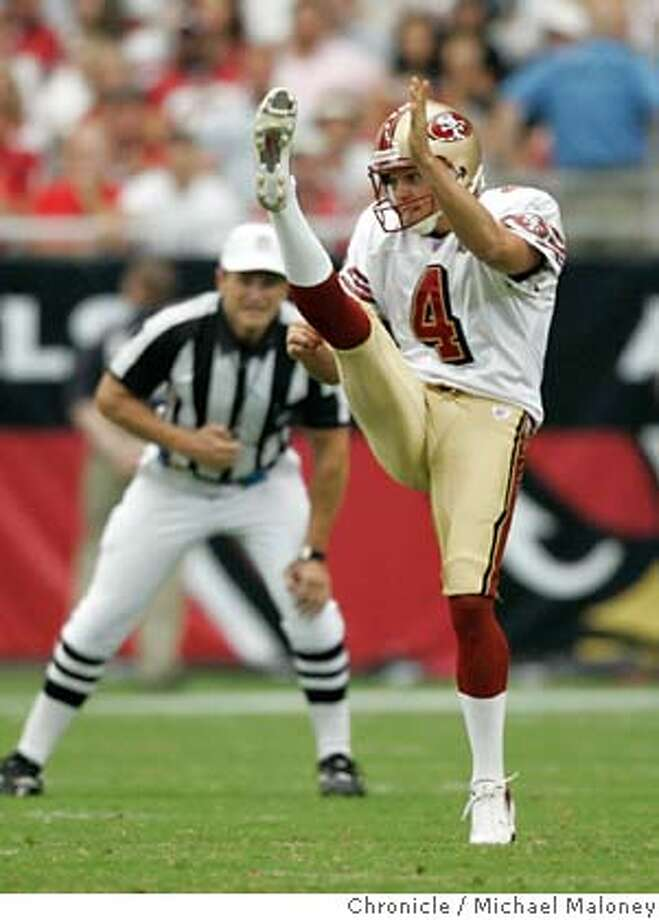 49ers punter Andy Lee (#4)  San Francisco 49ers vs Arizona Cardinals at the new Cardinals Stadium in Glendale, Arizona.  Photo by Michael Maloney / San Francisco Chronicle on 9/10/06 in Glendale,AZ MANDATORY CREDIT FOR PHOTOG AND SF CHRONICLE/ -MAGS OUT Photo: Michael Maloney