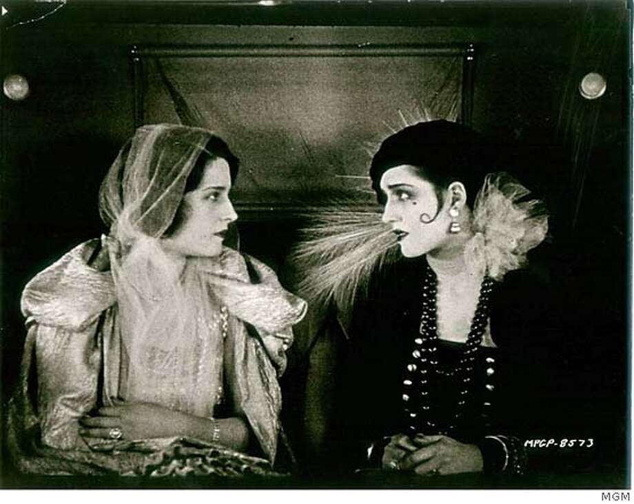 "The film ""Lady of the Night,"" 1925 Ran on: 07-11-2004  In &quo;Lady of the Night,&quo; Norma Shearer plays both rich girl Florence (left) and poor girl Molly. Ran on: 08-01-2004  &quo;Coffee and Cigarettes&quo; (with Cate Blanchett): boring? Ran on: 10-02-2005  The special-effects mandrill from &quo;A Sound of Thunder&quo;  Ran on: 09-24-2006  Norma Shearer as rich Florence (left) and poor Molly in &quo;Lady of the Night.&quo; Photo: MGM"