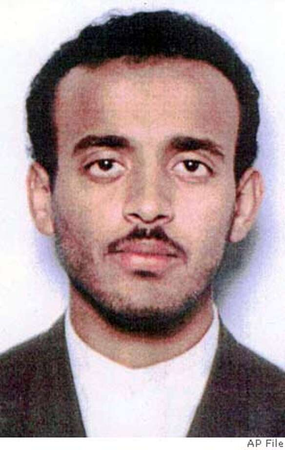** FILE ** Ramzi Binalshibh, a Yemeni national, is seen in this undated handout photo. Alleged Sept. 11 planner Binalshibh and four other al-Qaida suspects were handed over to the United States on Monday, Sept. 16, 2002, state-run television said. From restaurants to shopping malls to their secret apartment meeting place, key Sept. 11 plotters moved around Malaysia's largest city in comfortable obscurity. The al-Qaida members were photographed during their visit in January 2000 by security officials atvarious places in and around the gleaming capital, but it was their Malaysian and Indonesian hosts who were the targets of the surveillance, officials say. (AP Photo/Winfried Rothermel) ALSO RAN 11/20/02, 06/27/03 CAT Ran on: 12-17-2004  Khalid Sheikh Mohammed, left, and Ramzi Binalshibh, alleged Sept. 11 plotters, are believed to be held by the CIA at undisclosed locations. ###3/5/2004##5star#a4# Photo: WINFRIED ROTHERMEL