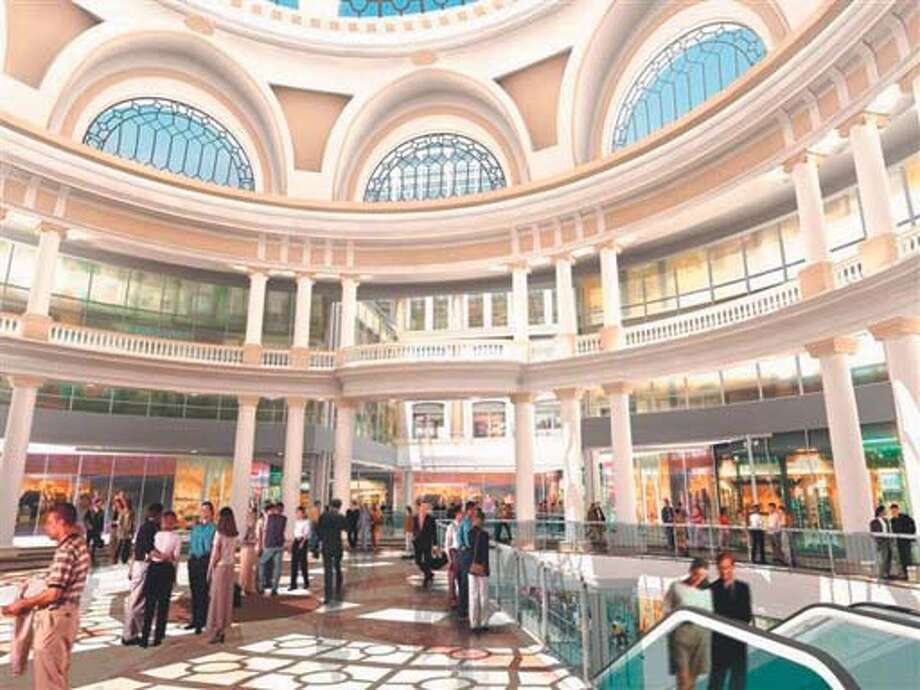 UNDER THE DOME: The social hub of the new Westfield San Francisco Centre will be the 200-by-65-foot atrium and colonnade, where shoppers, tourists and casual passers-by can rest, regroup and take in their surroundings before exploring the rest of the center, and the neighborhood.The gathering place will be under the historic Emporium dome, which was designed by Albert Pissis and painstakingly restored to its 1908 glory for the new project. (The original dome was destroyed in the 1906 earthquake and subsequent fires.) San Francisco has always been a community that cherishes its past while forging ahead into the future; this labor of love � and commerce � honors both wishes.Artist rendering courtesy of Westfield San Francisco Centre