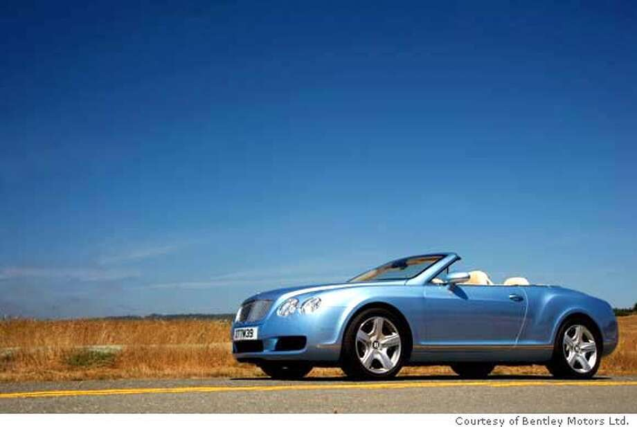 The 552-hp Bentley GTC goes from zero to 60 mph in 4.8 seconds. But with a price approaching $200,000 and shamefully low mileage, it's not for everyone. Illustrates BENTLEY-GTC (category l) by Dan Neil (c) 2006, Los Angeles Times. Moved Friday, Sept. 8, 2006. (MUST CREDIT: Photo courtesy of Bentley Motors Ltd.). Photo: BENTLEY MOTORS LTD.