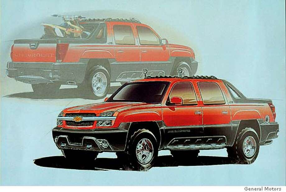 STACK15-C-13NOV01-DD-HO Chevrolet Avalanche Design Sketch. HANDOUT.  Ran on: 09-23-2006  A design sketch of the Chevrolet Avalanche, a full-size, four-door, five-passenger sport utility pickup.  Ran on: 09-23-2006 Photo: GM