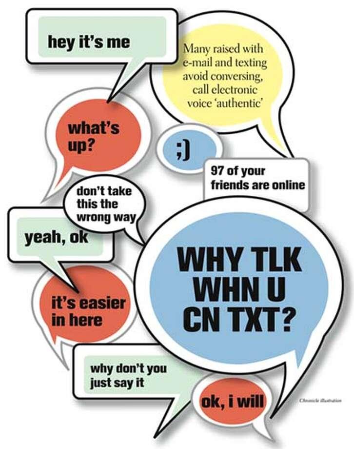 Why tlk whn u cn txt? Chronicle Illustration