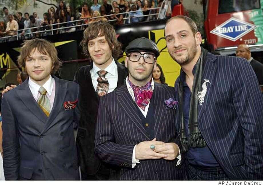 Members of the band OK Go arrive at the 2006 MTV Video Music Awards in New York, on Thursday, Aug. 31, 2006. (AP Photo/Jason DeCrow) Photo: JASON DECROW