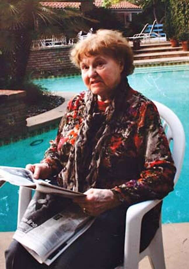 NAZI20_046_KW_.jpg  On Tuesday September 19, 2006 a copy photo of a December 24, 2005 Christmas family snap shot of Elfriede Rinkel taken in Los Angeles. According to family members, Rinkel immigrated from Germany to the United states in 1959 and lived in San Francisco until she was deported back to Germany at 84-years-old after federal officials uncovered her past as a Nazi concentration camp guard. Her family claims they never knew anything about her past and believed she worked for a furrier in Germany during the war. Handout ** cq Photo: HANDOUT