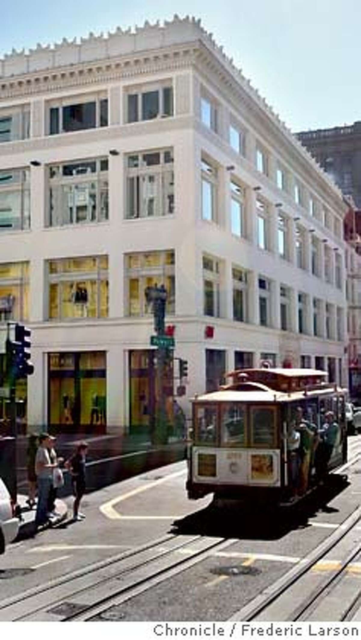 Old building facades have been restored while entirely new buildings have been placed inside for example150 Powell Street near Union Square. 9/20/06 {Frederic Larson/The Chronicle} MANDATORY CREDIT FOR PHOTOGRAPHER AND SAN FRANCISCO CHRONICLE/ -MAGS OUT