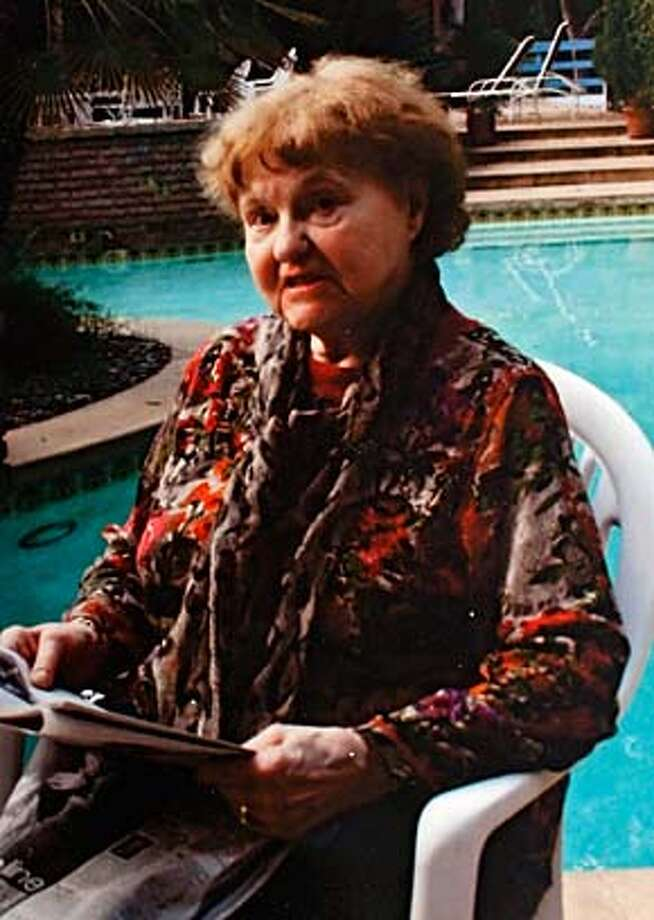 NAZI20_019_KW_.jpg  On Tuesday September 19, 2006 a copy photo of a December 24, 2005 Christmas family snap shot of Elfriede Rinkel taken in Los Angeles. According to family members, Rinklel immigrated from Germany to the United states in 1959 and lived in San Francisco until she was deported back to Germany at 83-years-old after federal officials uncovered her past as a Nazi concentration camp guard. Her family claims they never knew anything about her past and believed she worked for a furrier in Germany during the war. Handout ** cq Photo: HANDOUT
